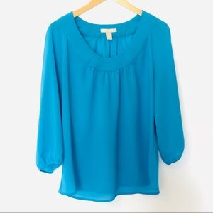 Banana republic sky blue blouse